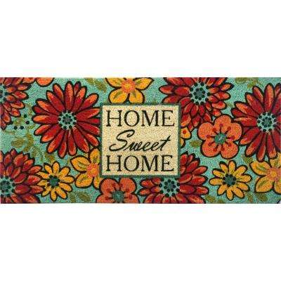 Fiesta Multi 20 in. x 46 in. Coir Outdoor Mat
