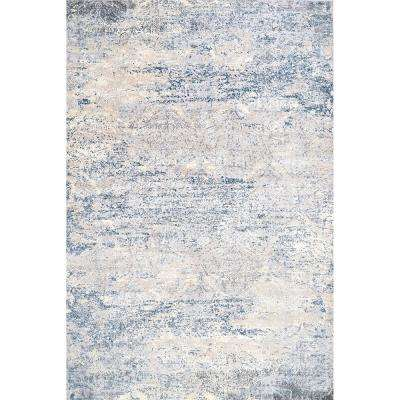 Twilight Tribal Distressed Silver 8 ft. x 10 ft. Area Rug