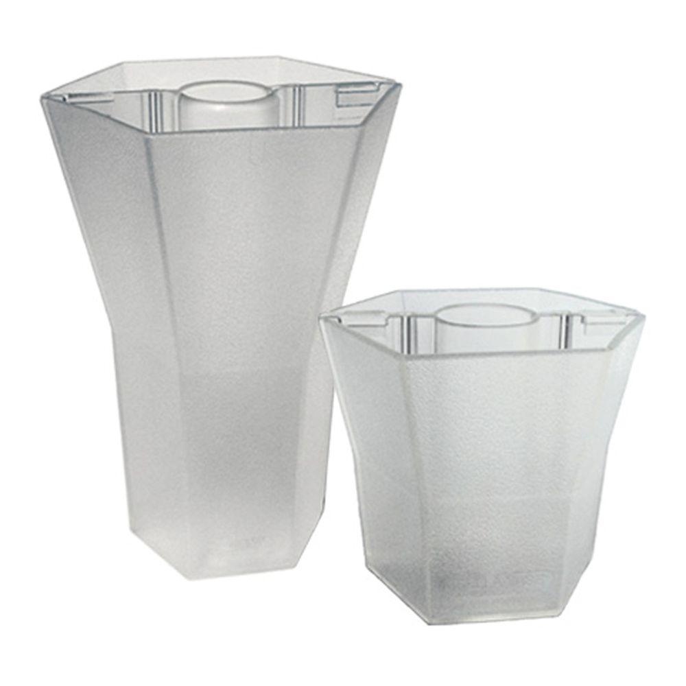 Brella Vase Patio Umbrella Vases in Translucent Crystal Dew (Duet Pack 5 in. and 10 in.)-DISCONTINUED