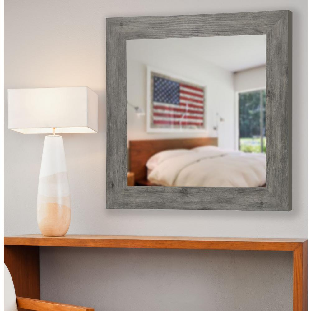 35 5 in x 35 5 in gray barnwood vanity square vanity for 4 x 5 wall mirror