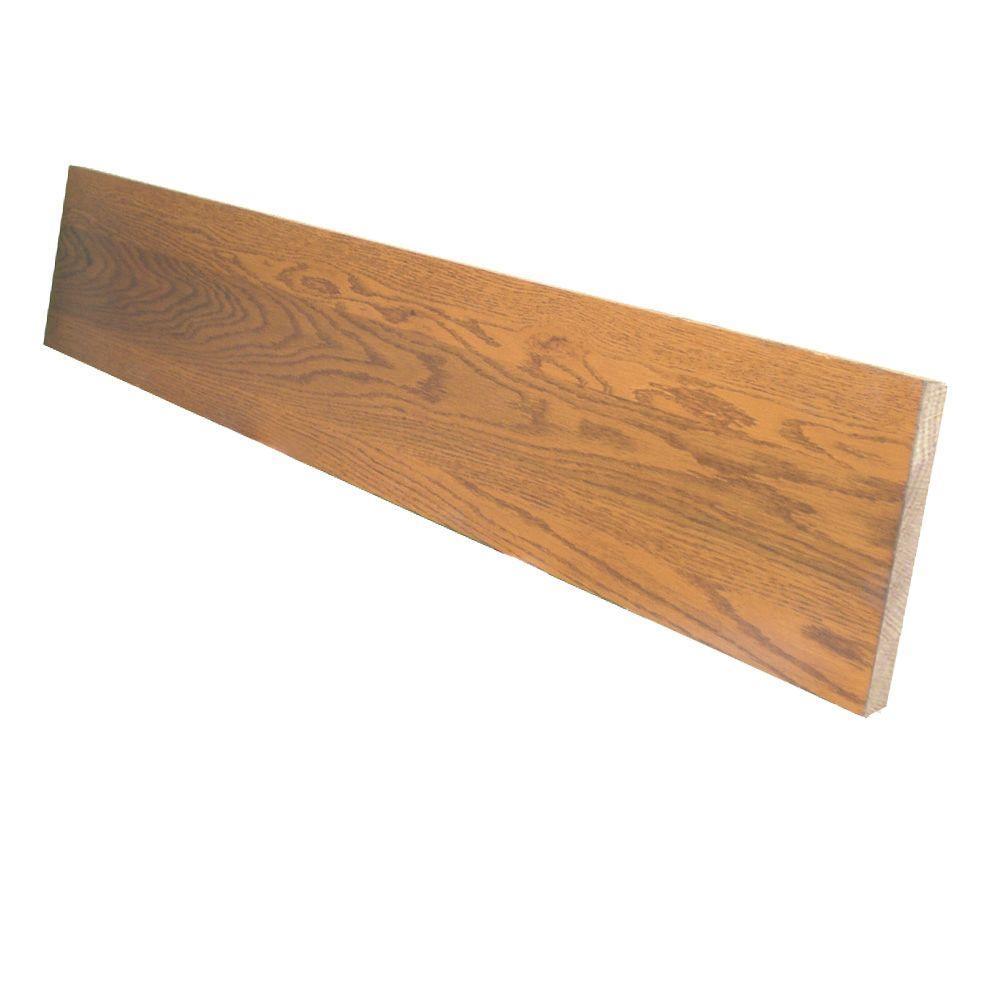 0.75 in. x 7.5 in. x 42 in. Prefinished Gunstock Red Oak Riser