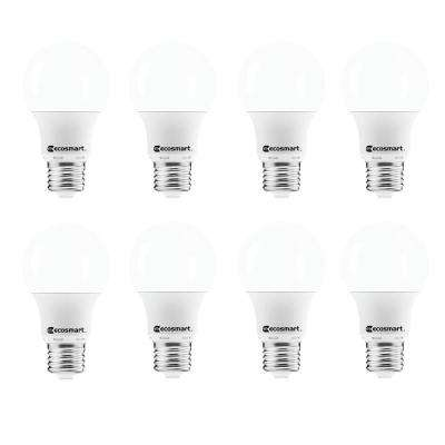 40-Watt Equivalent A19 Non-Dimmable CEC LED Light Bulb Daylight (8-Pack)