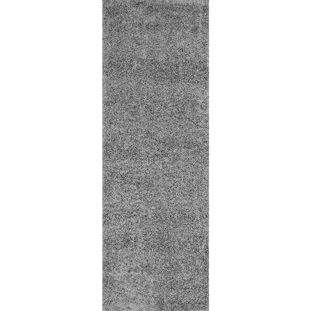 Marleen Plush Shag Gray 3 ft. x 8 ft. Runner