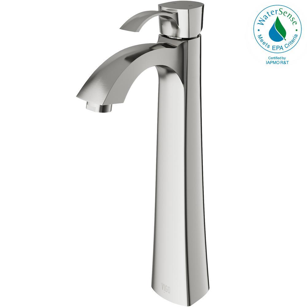 Otis Single Hole 1-Handle Bathroom Faucet in Brushed Nickel