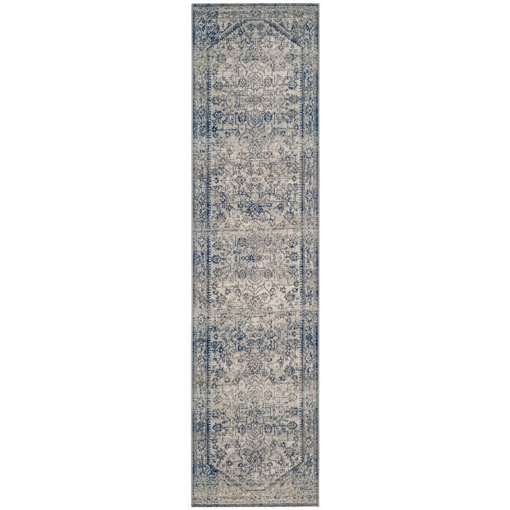Artisan Silver/Blue 2 ft. x 8 ft. Runner