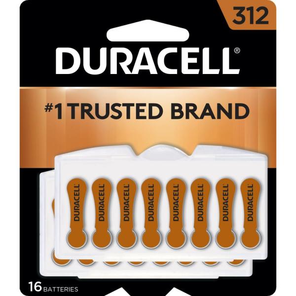 Size 312 Zinc Hearing Aid Battery (16-Pack)