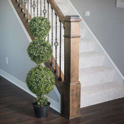 5 ft. Boxwood Triple Ball Everyday Topiary with Pot (UV)
