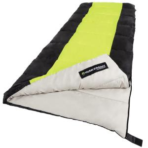 Click here to buy Wakeman 75 inch L 2-Season Sleeping Bag in Neon Green by Wakeman.