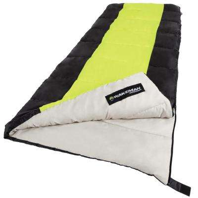 75 in. L 2-Season Sleeping Bag in Neon Green
