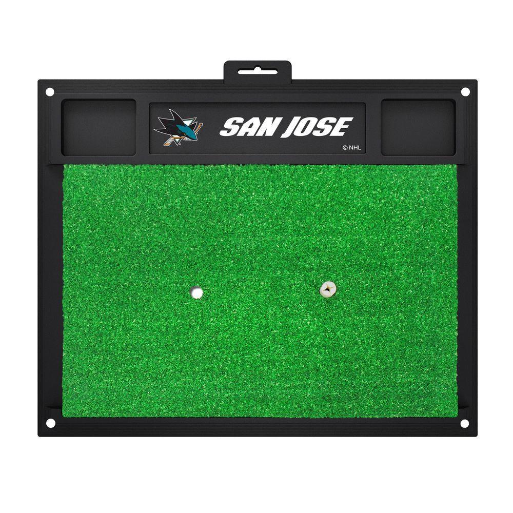 NHL - San Jose Sharks 20 in. x 17 in. Golf Hitting Mat