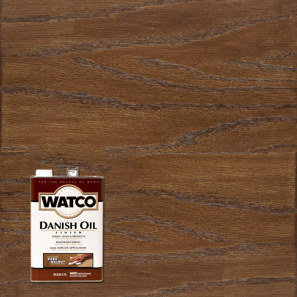 Watco 1 gal  Dark Walnut Danish Oil (2-Pack)