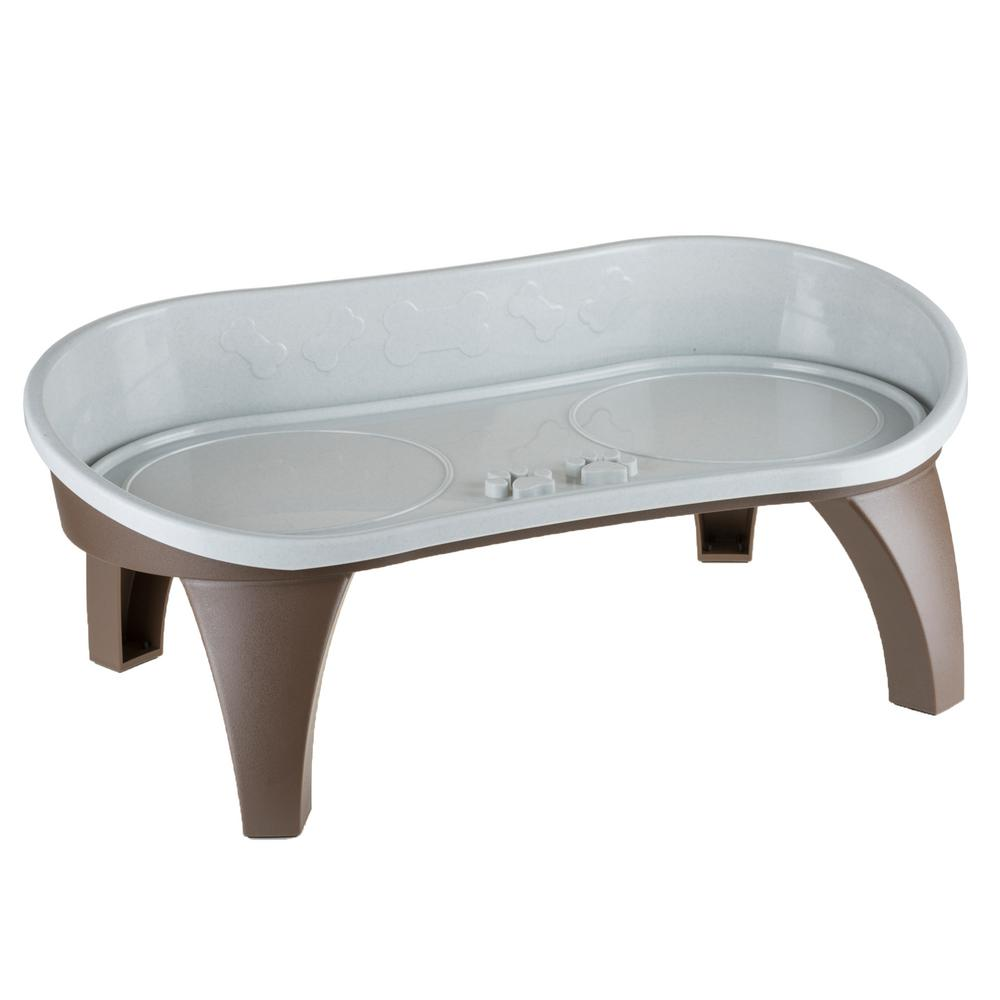 Petmaker 2 Cup Elevated Pet Tray In Tan