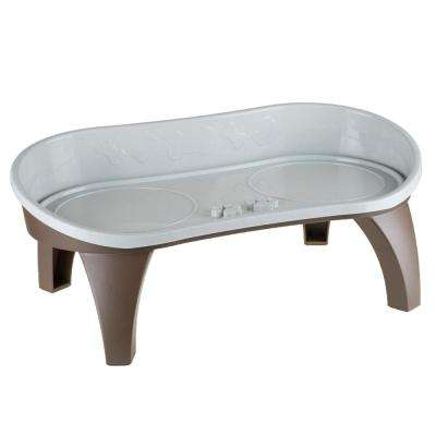 2-Cup Elevated Pet Tray in Tan