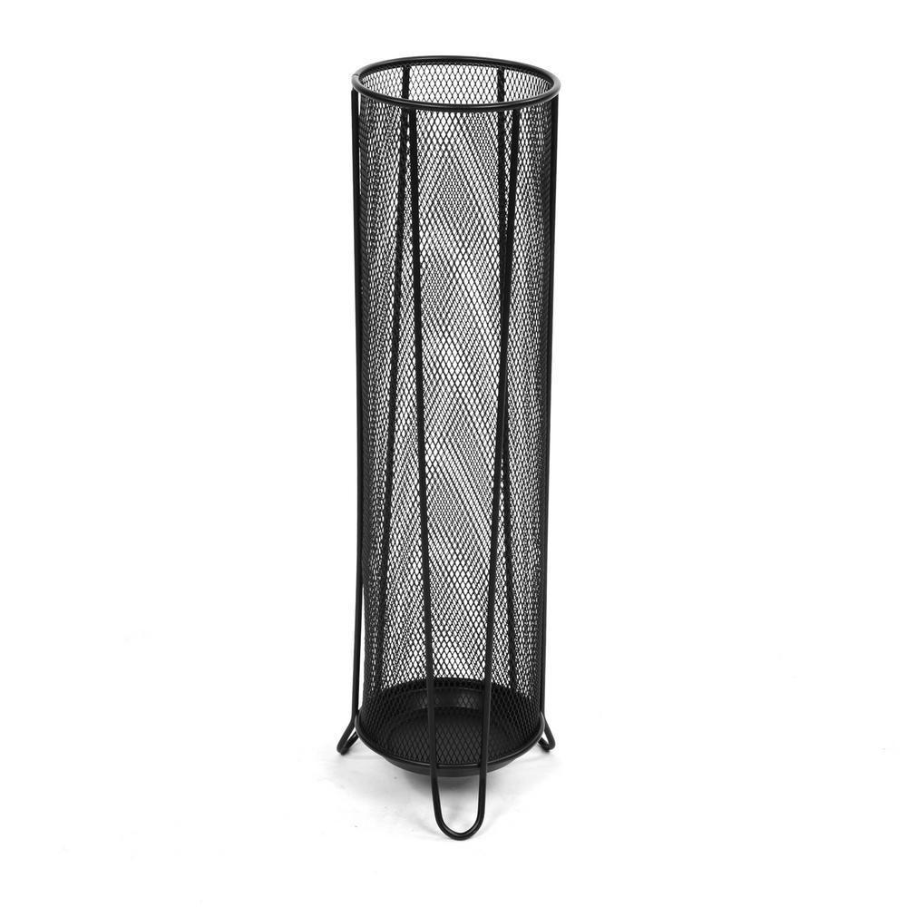 Mind Reader Black Thin Metal Mesh Umbrella Holder