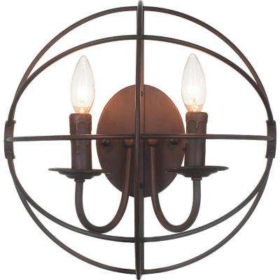 Arza 2-Light Brown Sconce
