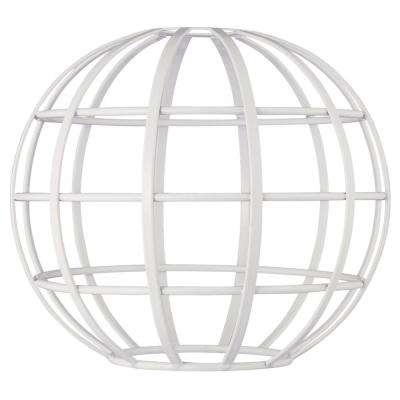 7 in. White Globe Cage Shade with 2-1/4 in. Fitter and 8 in. Width