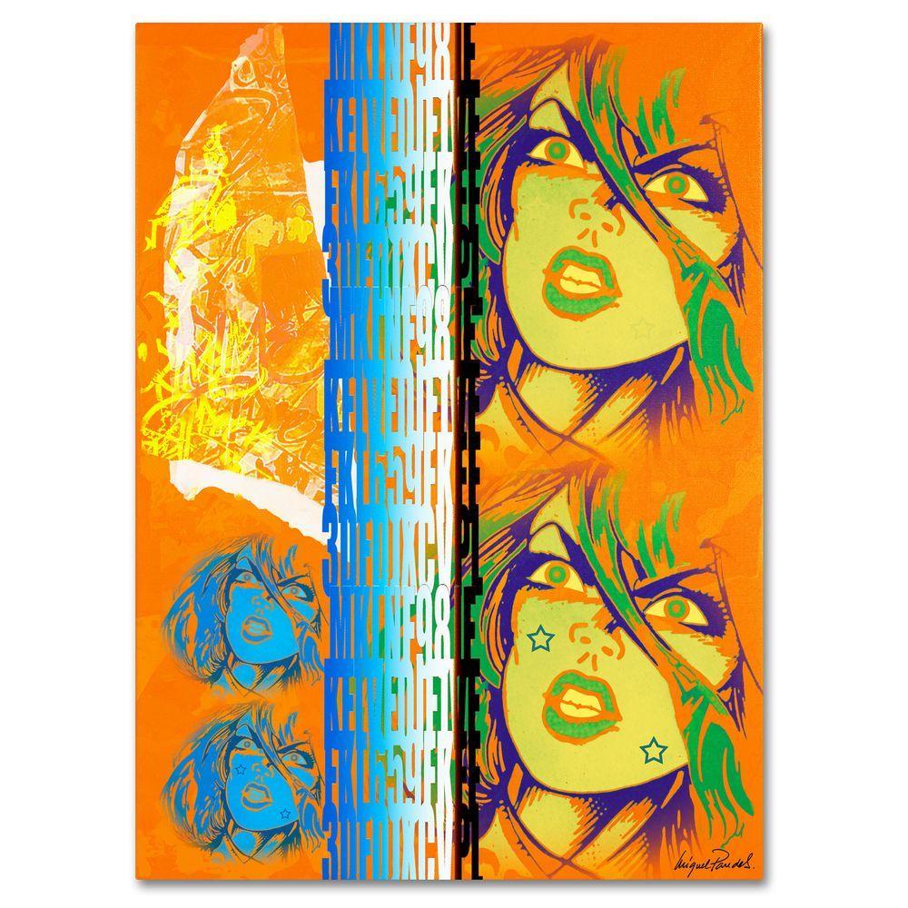 14 in. x 19 in. Crime in Orange Canvas Art