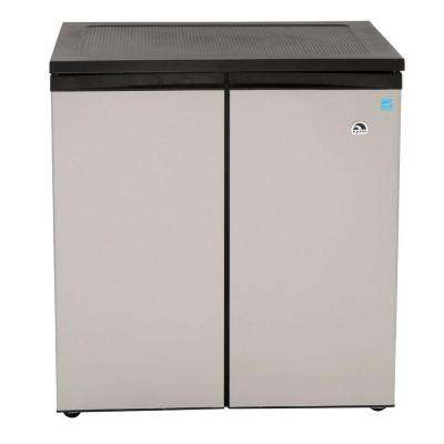 33 in. W 5.5 cu. ft. Side by Side Refrigerator in Silver, Counter Depth