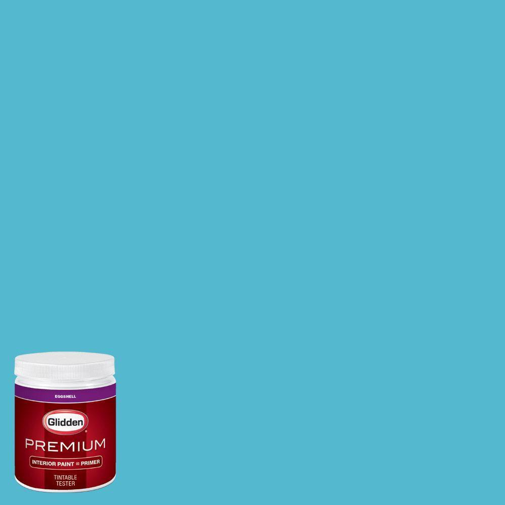 Glidden Premium 8 Oz Hdgb41 Bright Blue Eggshell