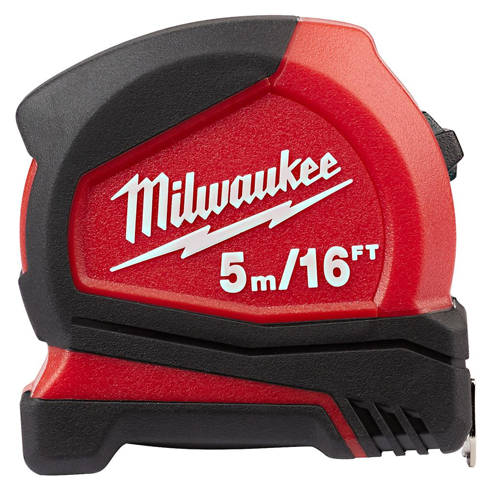 Milwaukee 5 M 16 Ft Compact Tape Measure 48 22 6617 The Home Depot Stanley Basic 5m