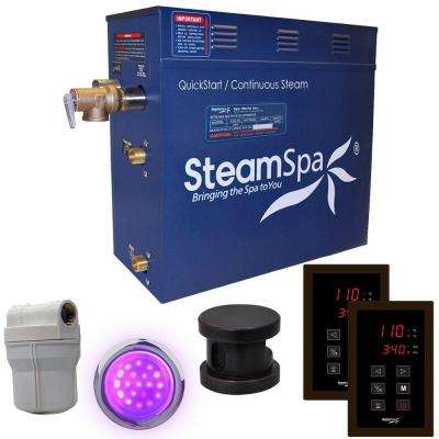 Royal 9kW QuickStart Steam Bath Generator Package in Polished Oil Rubbed Bronze