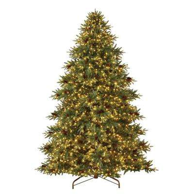 9 ft. Pre-Lit LED Refined Elegance Spruce Artificial Christmas Tree with 2300 Warm White Micro-Dot Lights