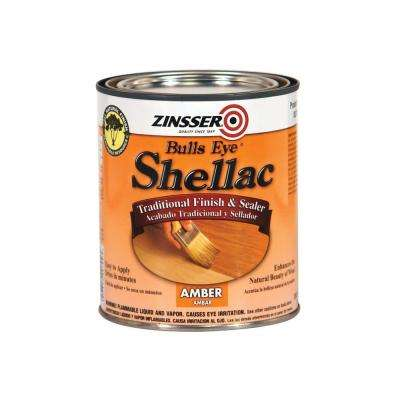 1-qt. Amber Shellac Traditional Finish and Sealer (Case of 4)