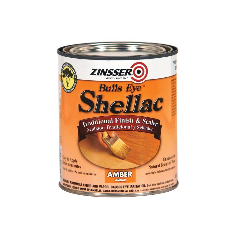 Zinsser 1 qt. Amber Shellac Traditional Finish and Sealer