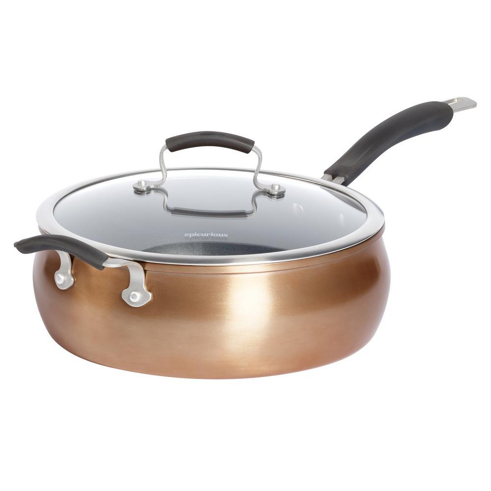 6 Qt. Copper Translucent Aluminum Jumbo Cooker with Lid and Assist Handle