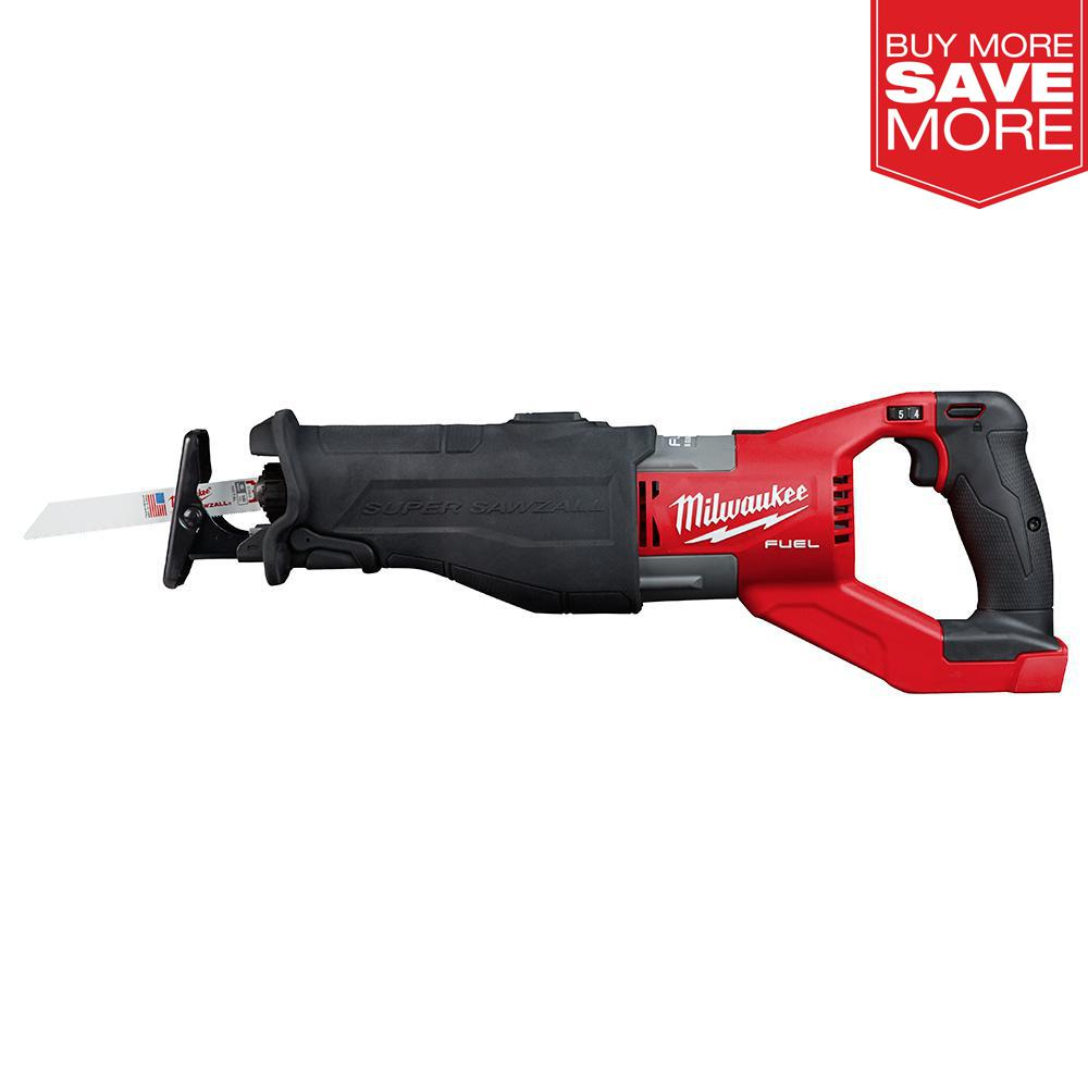 Milwaukee M18 FUEL 18-Volt Lithium-Ion Brushless Cordless SUPER SAWZALL Orbital Reciprocating Saw (Tool-Only)