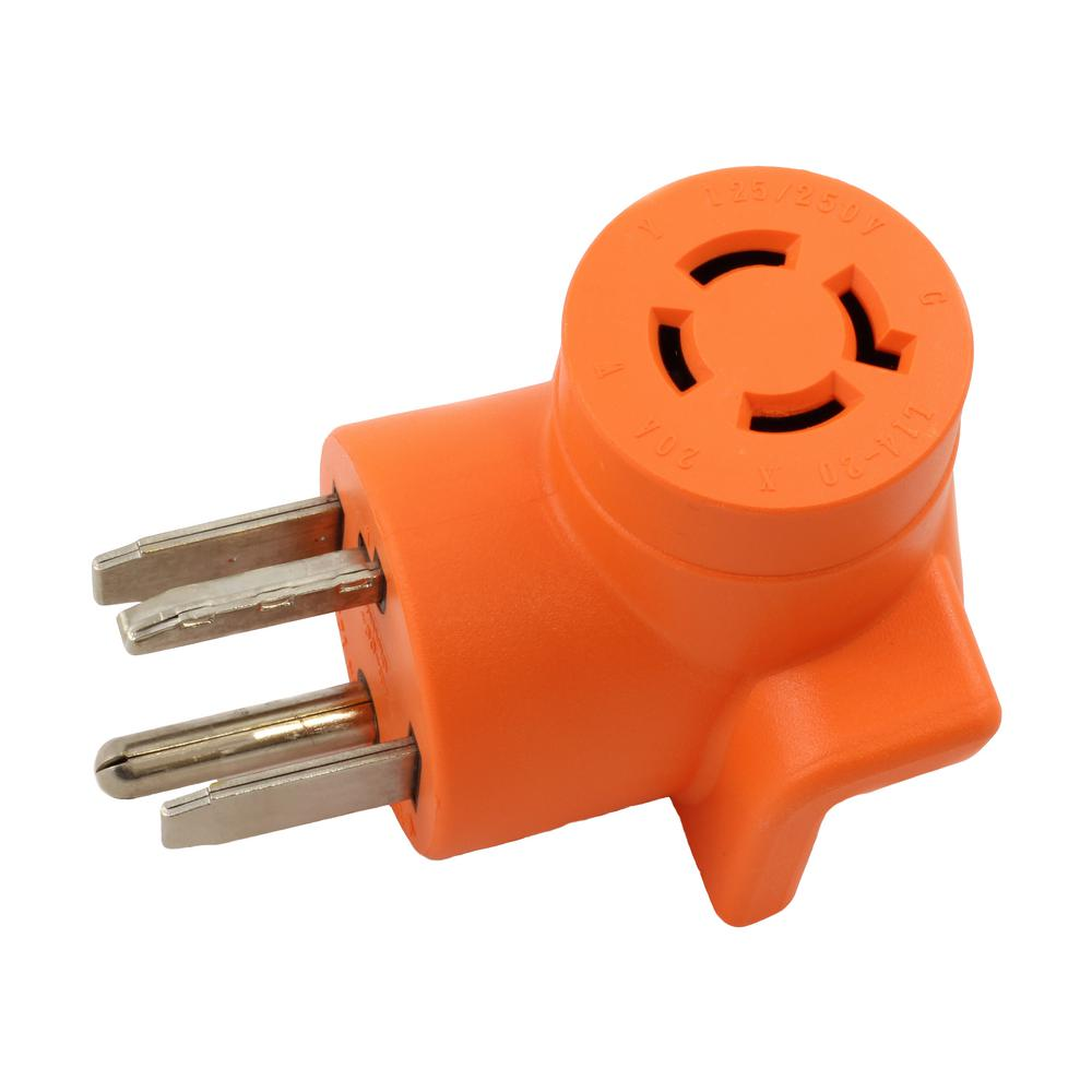 Ac Works Connectors Nema 10 30 3 Prong Dryer Plug To 6 50 Welder 4 Wiring Diagram Outlet Adapter 14 30p 20