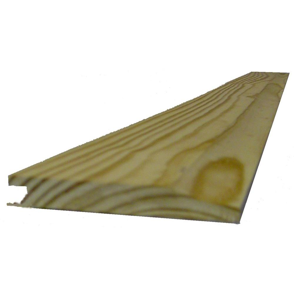 1 in  x 8 in  x 10 ft  Southern Yellow Pine Siding Board