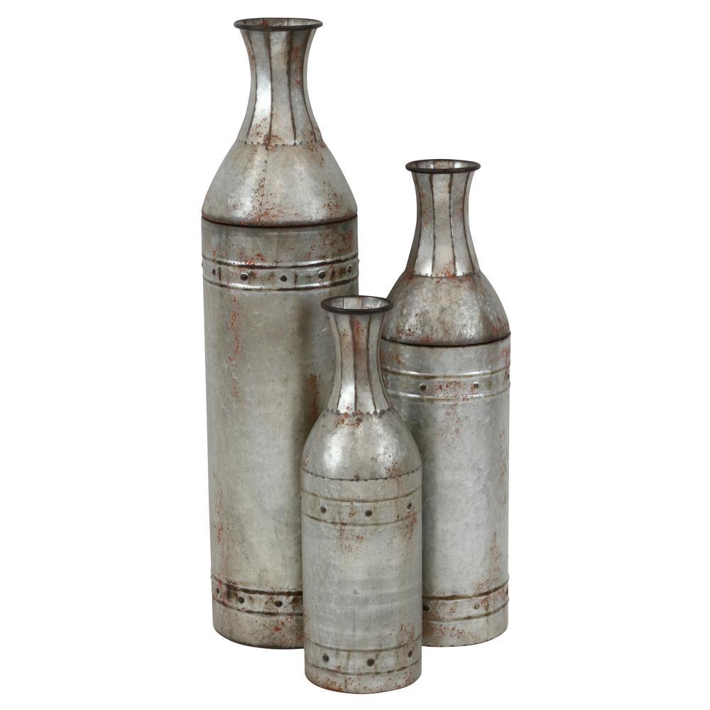 Jamie Gray Tall Metal Vases (Set of 3)