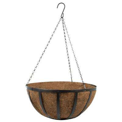 14 in. Coco Oxford Hanging Basket with Desert Bronze Chain