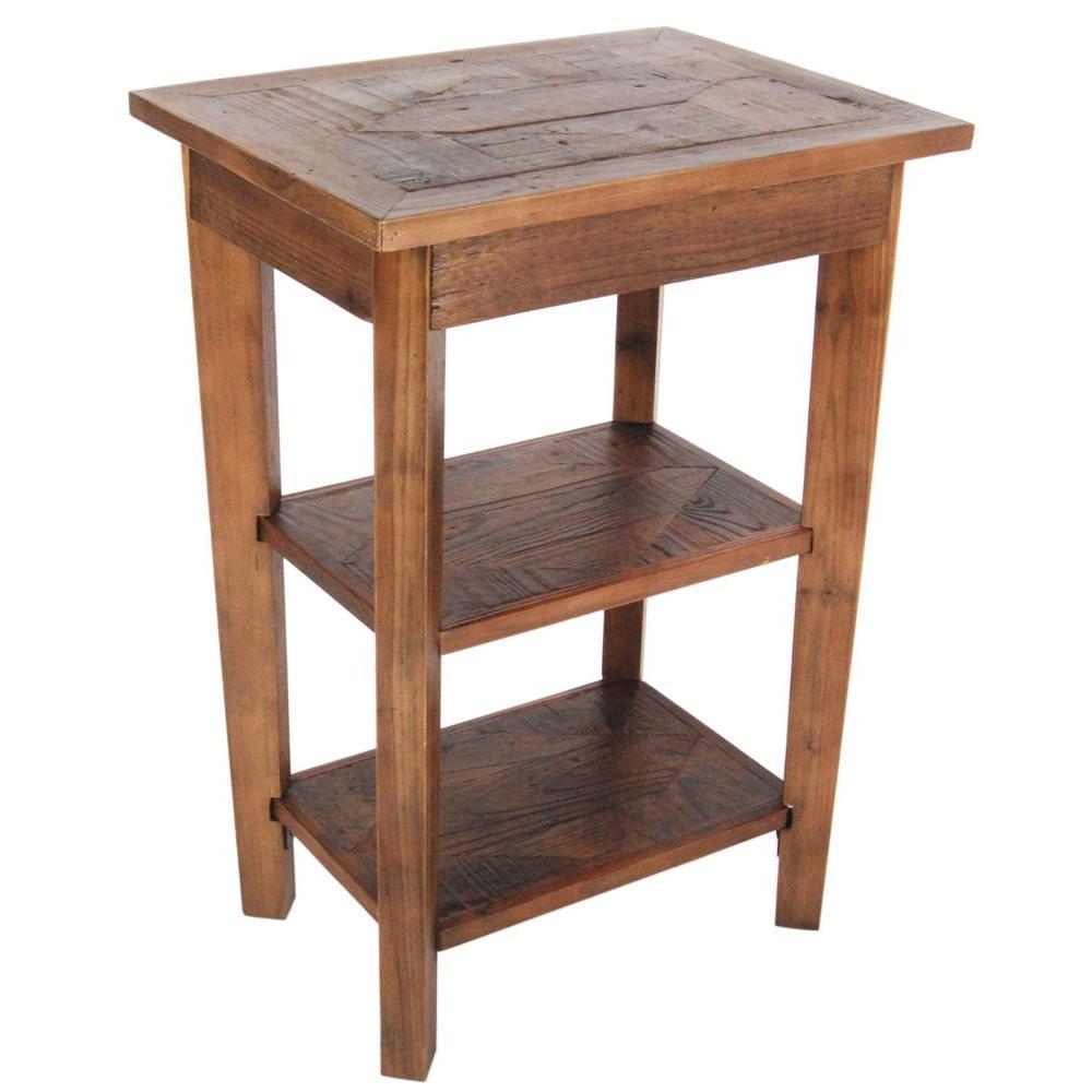 Alaterre Furniture Revive Natural Oak Storage End TableARVA0220