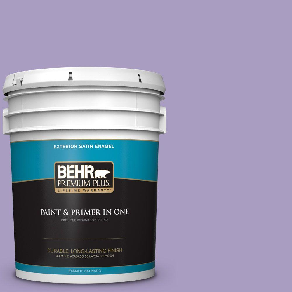 BEHR Premium Plus 5-gal. #M560-4 Evening Slipper Satin Enamel Exterior Paint
