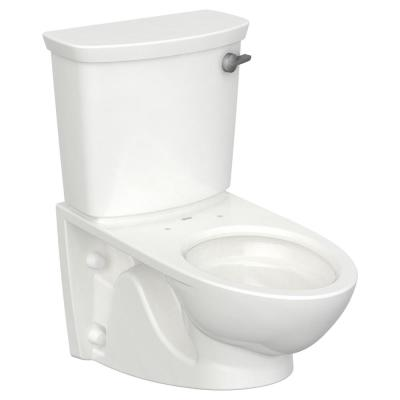 Glenwall VorMax Wall-Hung 2-Piece 1.28 GPF Single Flush Elongated Toilet with Right Hand Trip Lever in White