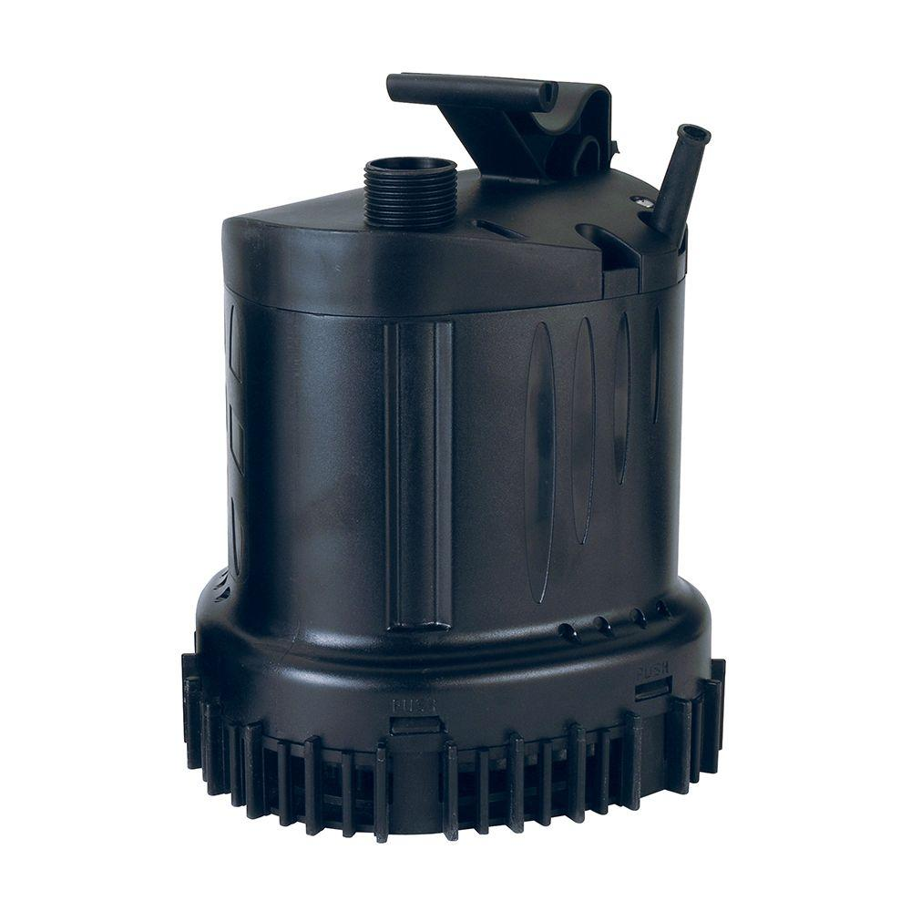 Lifegard aquatics 1430 gph submersible waterfall utility for Install external pond pump