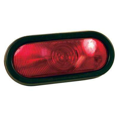 6 in. Oval Sealed Stop/Tail/Turn Light, Red