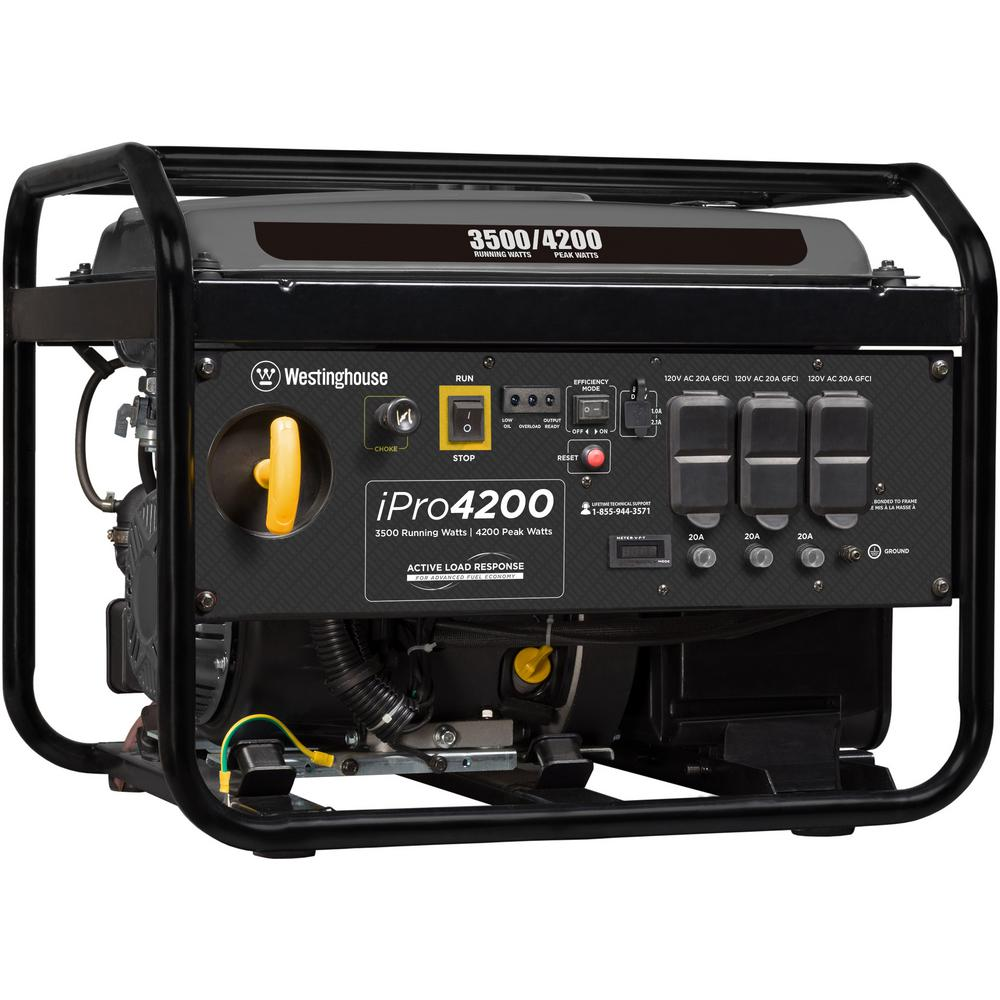 Westinghouse 4,200-Watt Gasoline Powered Portable Industrial Inverter  Generator with Full Panel GFCI