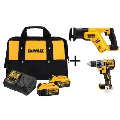 20-Volt MAX Lithium-Ion Starter Kit with (2) 5Ah Batteries, Charger and Bonus Compact Drill and Reciprocating Saw