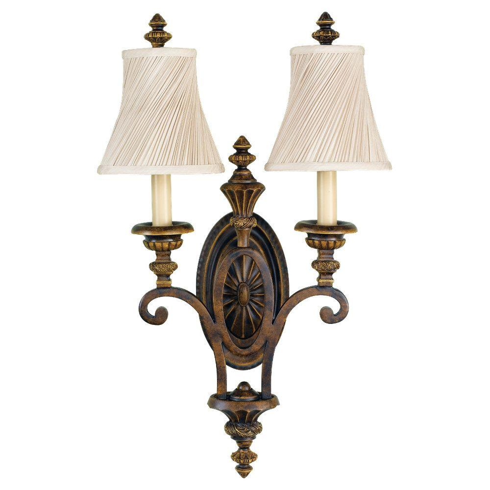 Drawing Room 2-Light Walnut Sconce