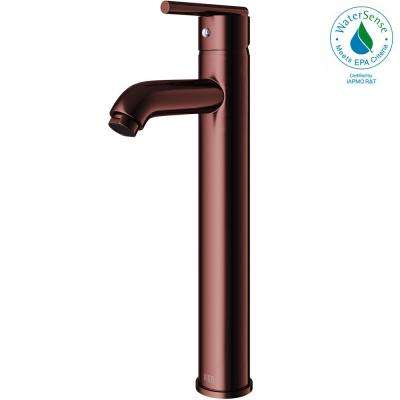 Single Hole Single-Handle Low-Arc Vessel Bathroom Faucet in Oil Rubbed Bronze