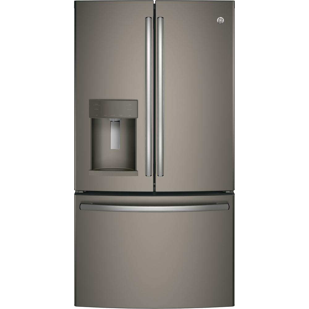 GE 27.8 cu. ft. French Door Refrigerator with Door-in-Door in Slate, Fingerprint Resistant