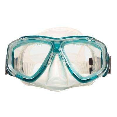 Green Newport Teen Scuba Mask