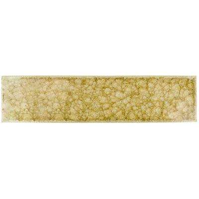 Roman Selection Raw Ginger Glass Mosaic Tile - 2 in. x 8 in. Tile Sample