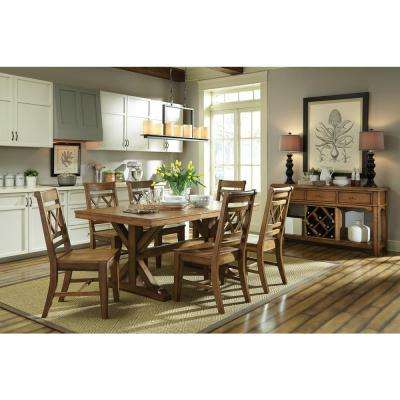 Canyon Pecan Wood X-Back Dining Chair (Set of 2)