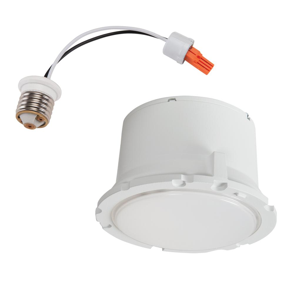 Halo ml 5 in and 6 in white integrated led recessed - Retrofit bathroom fan with light ...