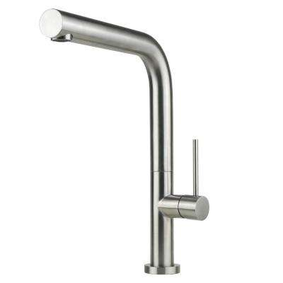Luxurious Single Handle Kitchen Faucet in Brushed Nickel