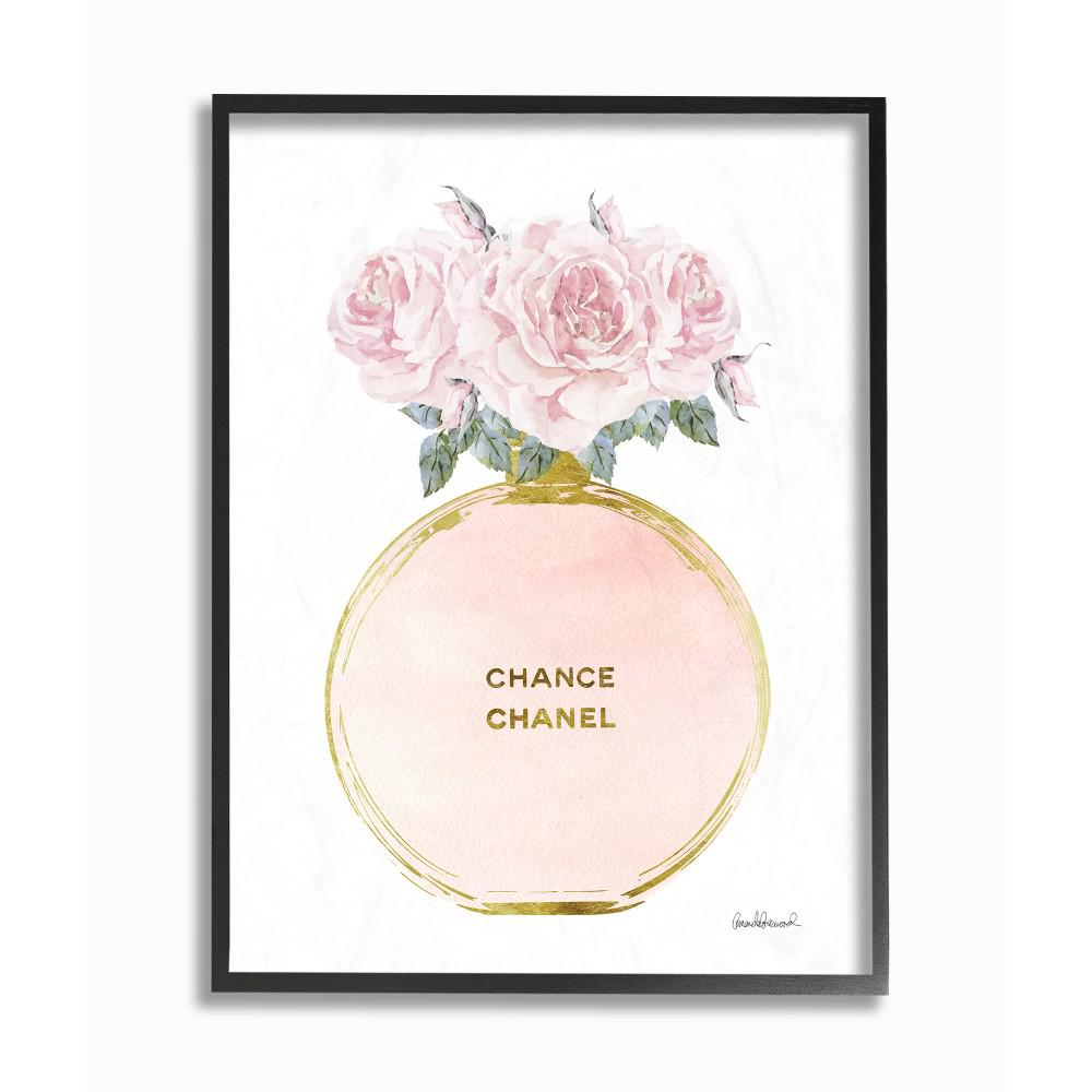Stupell Industries 16 In X 20 In Pink And Gold Round Perfume